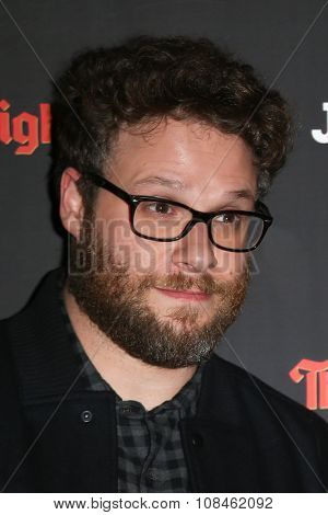 NEW YORK-NOV 16: Actor Seth Rogen attends the New York Red Carpet screening of Columbia Pictures'