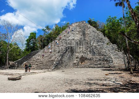 Ancient mayan city Coba in Mexico