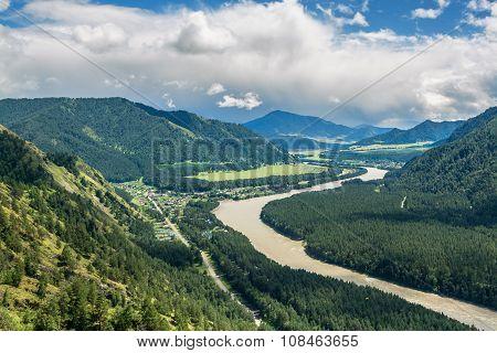 River Katun in Altai Republic, Russia