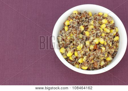 Yellow Corn And Red Quinoa Recipe