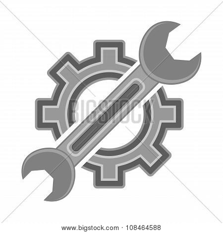 Hear and Wrench. Service Icon