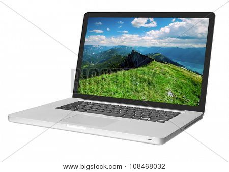 modern laptop isolated on white backgrounds