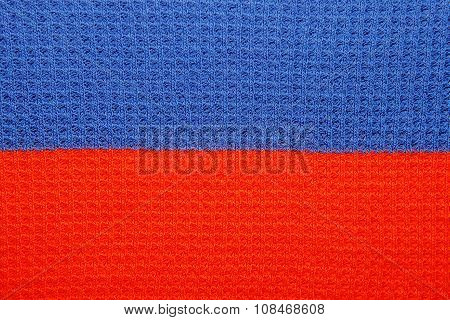 Close-up Of Saturated Red And Blue Line Pattern