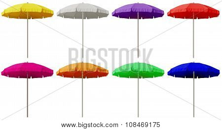 Beach Umbrellas - Colorful