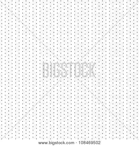 Seamless Modern  Pattern With Black Dots