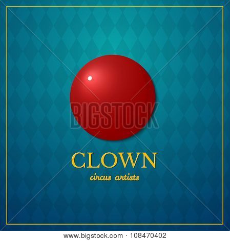 Clown logo, circus design, vector illustration