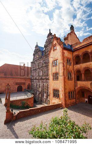 Inner part of Heidelberg castle during summer