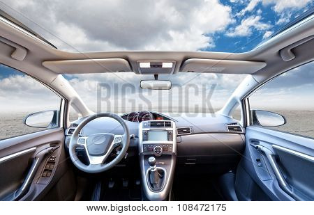 car interior backgroun no people