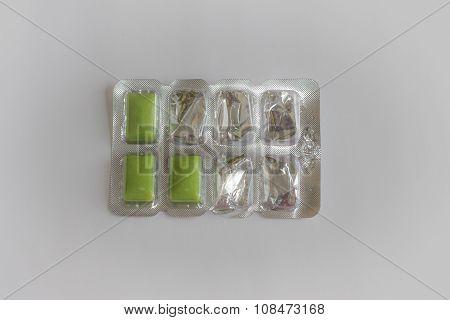Sweet Gum Wrapped Yet Eaten
