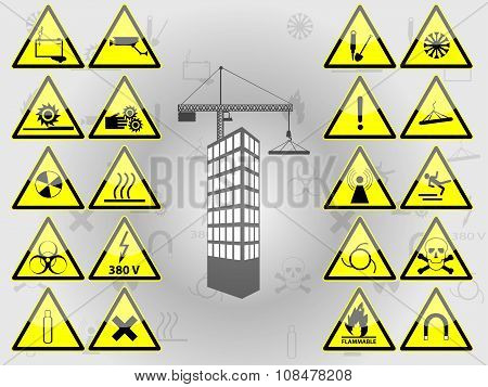 Selection of warning signs