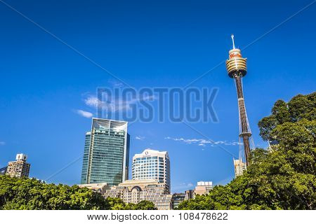 Sydney - October 27: Sydney Tower On October 27, 2015 In Sydney, Australia. Designed By Australian A