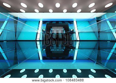 Futuristic Entrance Hall..