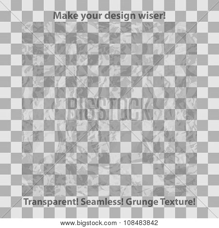 Grunge and checkered seamless patterns