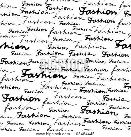 Lettering of fashion.
