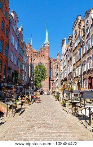 Gdansk.  Mariacka street.