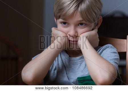 Unhappy Young Boy