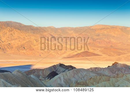 Morning view of Death Valley from above
