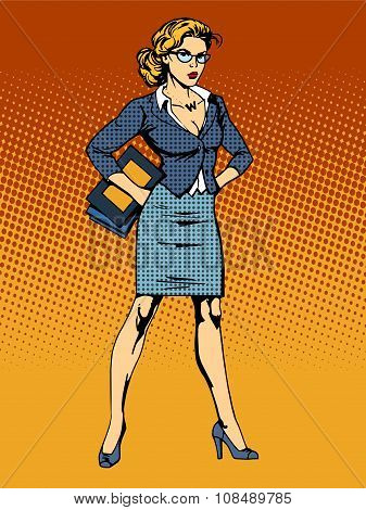 businesswoman superhero woman vamp