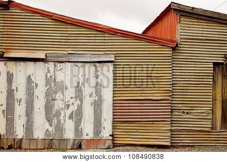 Rusty Corrugated Iron Background
