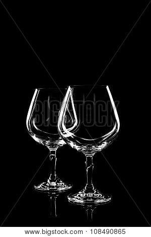 Transparent Glass For Wine