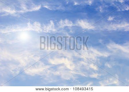 Big Blue Sky With Rays Of Light