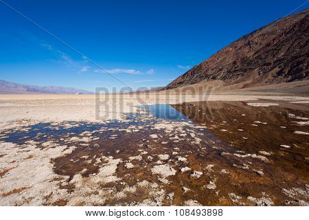 Salt and water in the Death Valley