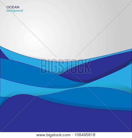 Background with ocean waves