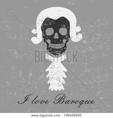 Stylized image of the skull to the Baroque era