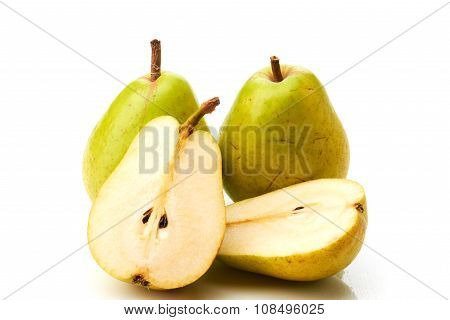 Two pears and two half