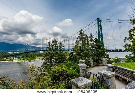 Lions Gate Suspension Bridge (or First Narrows Bridge) in Vancouver