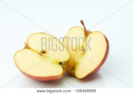 Two half of apple