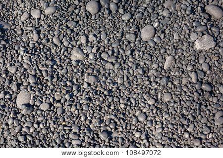 Icelandic Beach Pebbles Background