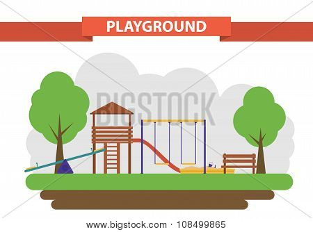 playground. set of elements for the construction