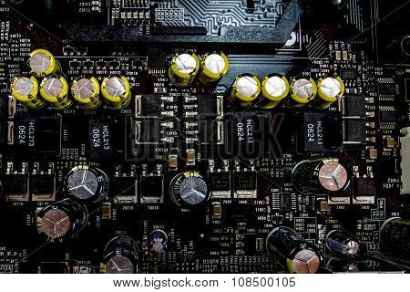 Circuitry on a Computer Motherboard