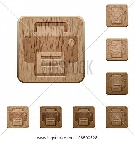 Print Wooden Buttons