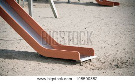 Empty Children's Slide