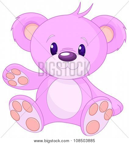 Illustration of cute toy bear
