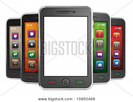 Black mobile smart phone