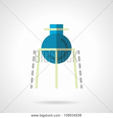 Chemical flask flat color vector icon