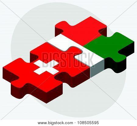 Switzerland And Madagascar Flags