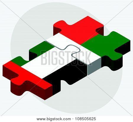 United Arab Emirates And Madagascar Flags