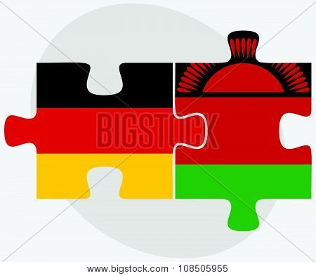 Germany And Malawi Flags