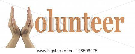 Simple Volunteer Banner