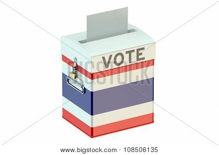 Costa Rica Election Ballot Box For Collecting Votes