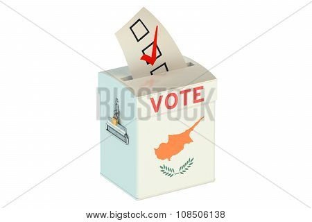 Cyprus Election Ballot Box For Collecting Votes