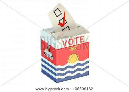 Kiribati Election Ballot Box For Collecting Votes
