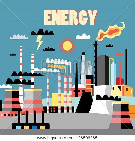 Industry power background