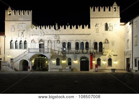 The Praetorian Palace, Venetian Gothic Palace In The City Of Koper In Slovenia