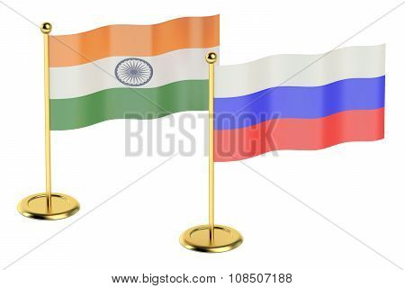 Meeting India With Russia Concept