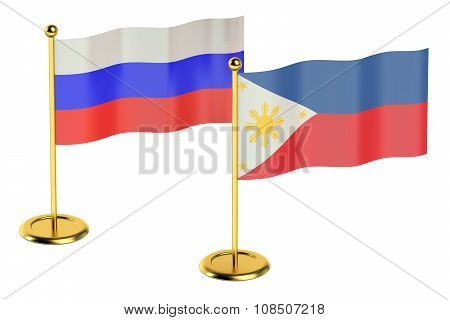 Meeting Philippines With Russia Concept